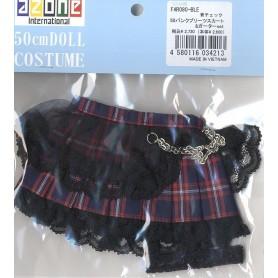 AZONE 60cm Stripe Frill Skirt Black